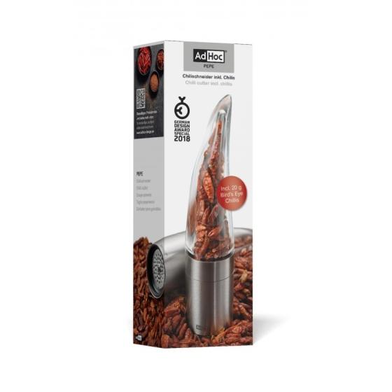 Dárkové balení mlýnek na chilli PEPE + Bird´s Eye chilli 20g - AdHoc