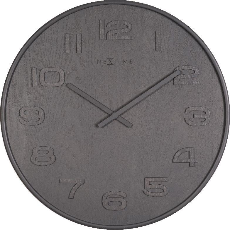 Nástěnné hodiny Wood Wood Big 53 cm šedé - NEXTIME