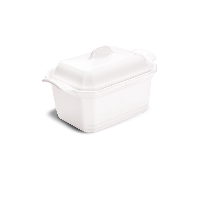Terrina se závažím Flour bílá nugátová 1,2 l - Emile Henry