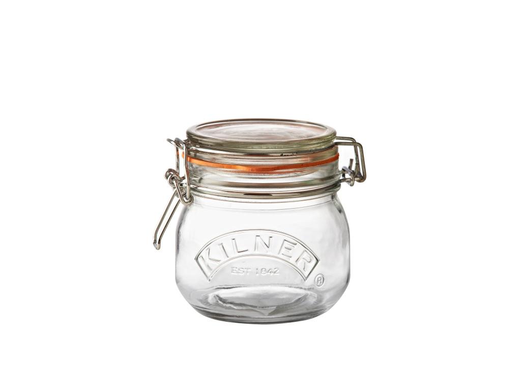 KILNER zavařovací sklenice s klipem 0,5l kulatá - Kilner