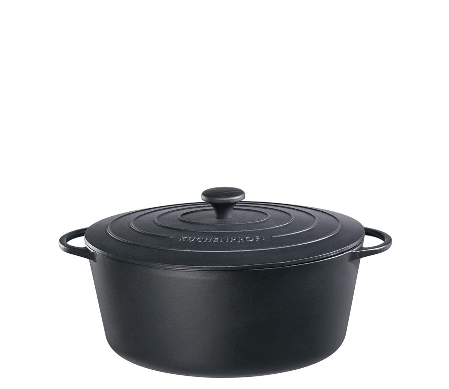 Litinový hrnec oválný Provence 31 cm černý - Küchenprofi