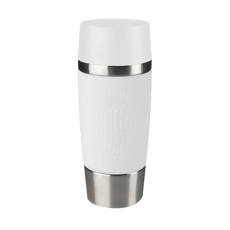 Termohrnek TRAVEL MUG Quick press 360 ml bílý - Emsa