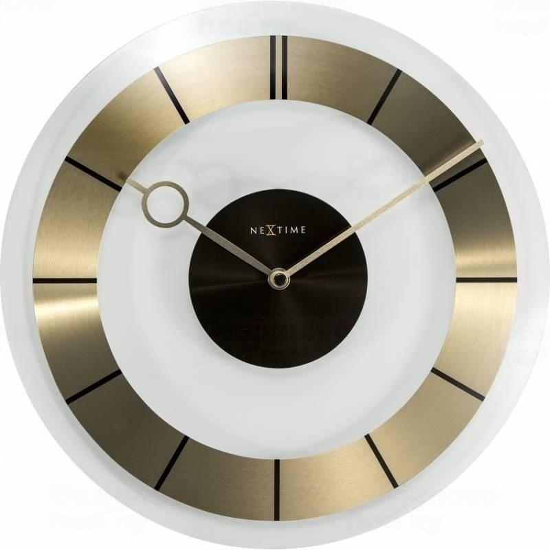 Nástěnné hodiny RETRO Gold 31 cm - NEXTIME