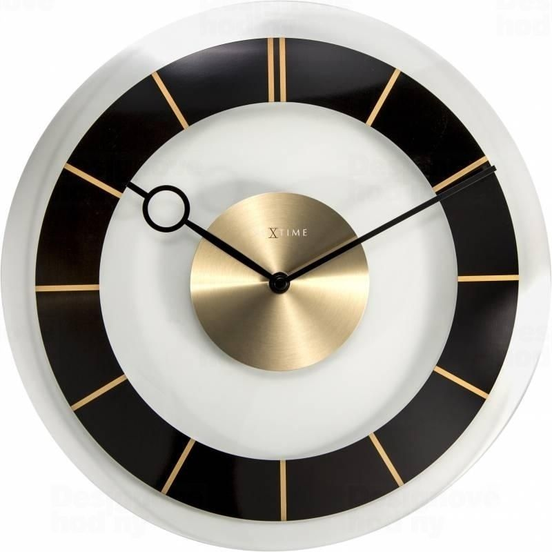 Nástěnné hodiny RETRO Black 31 cm - NEXTIME
