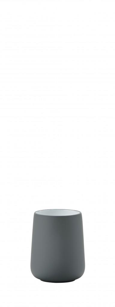 Kelímek na zubní kartáčky NOVA, šedý - Zone