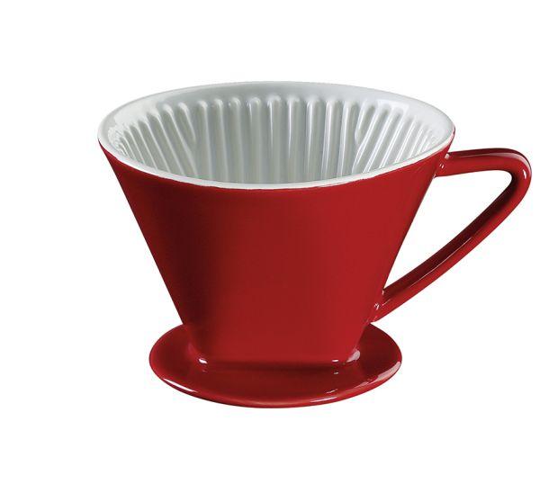 Filtr na kávu velikost 4, červený - Cilio
