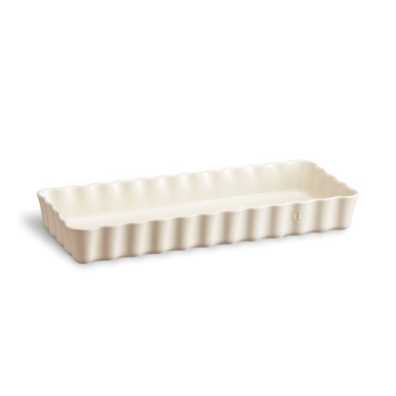 Keramická obdélníková koláčová forma 15 x 36 cm Clay krémová - Emile Henry
