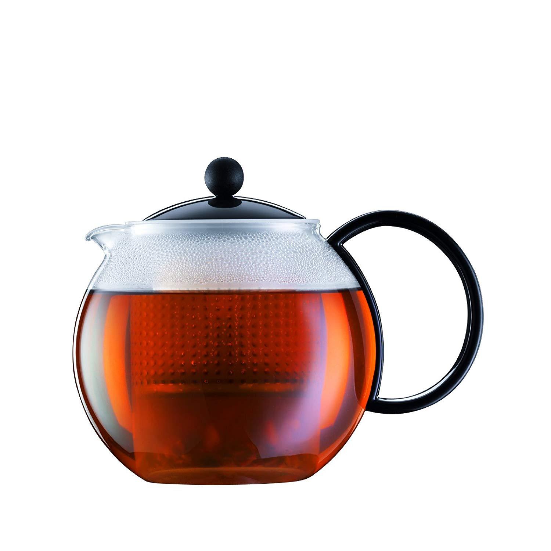 Konvice na čaj se sítkem ASSAM 1,0 l černá - Bodum