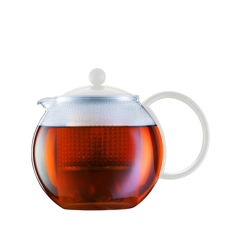 Konvice na čaj se sítkem ASSAM 1,0 l bílá - Bodum