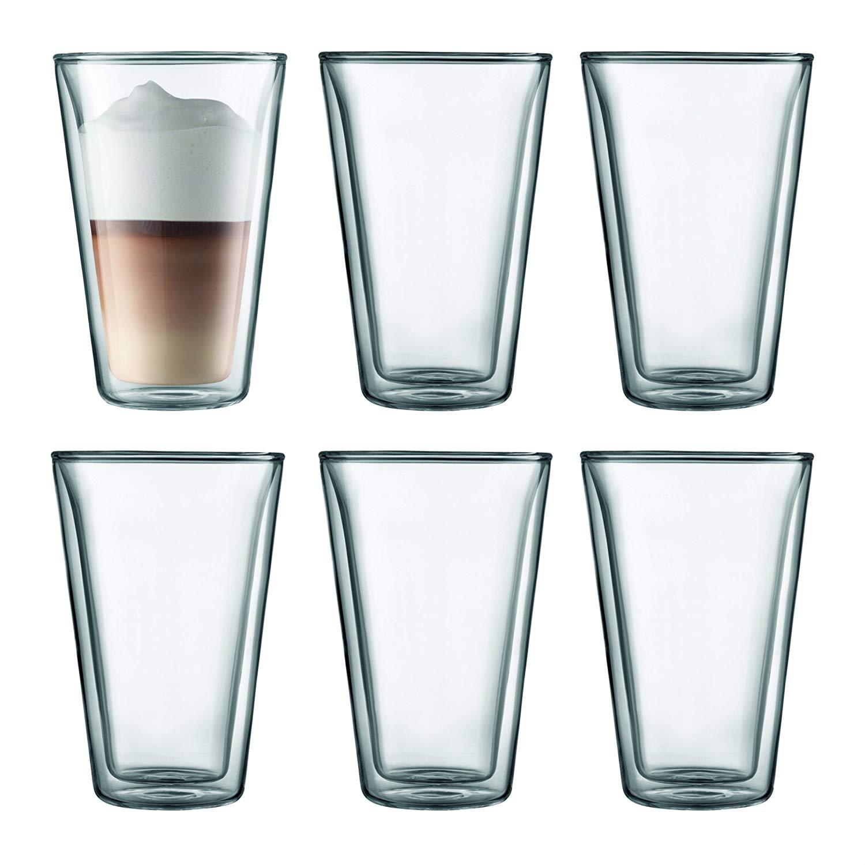 Set 6 ks Dvoustěnná sklenice CANTEEN 0,4 l - Bodum