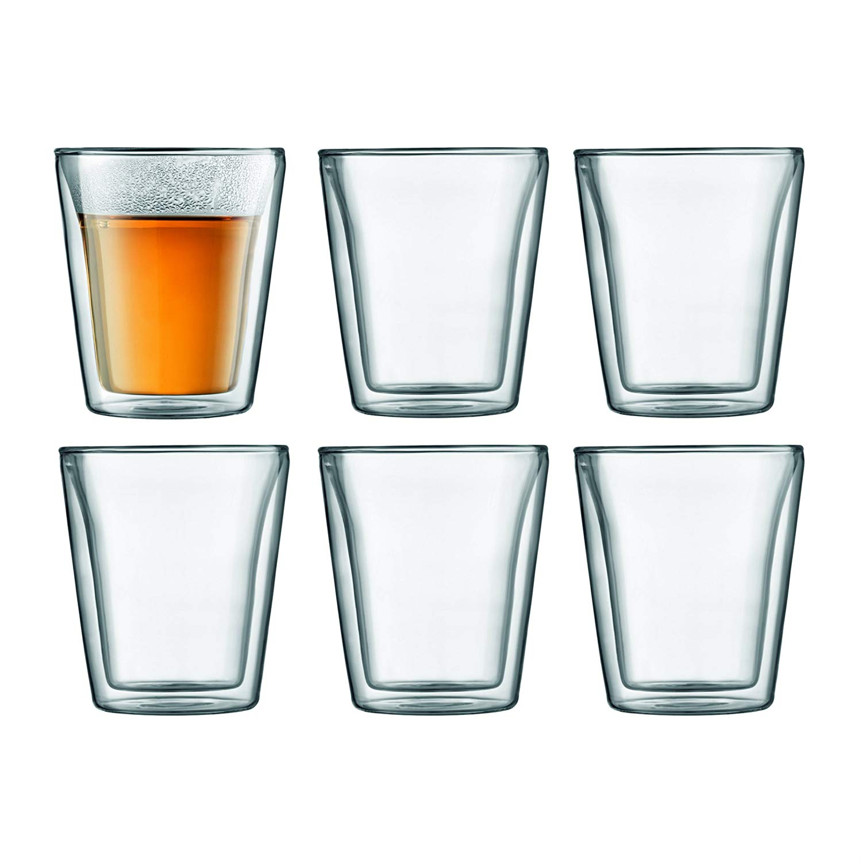 Set 6 ks Dvoustěnná sklenice CANTEEN 0,2 l - Bodum
