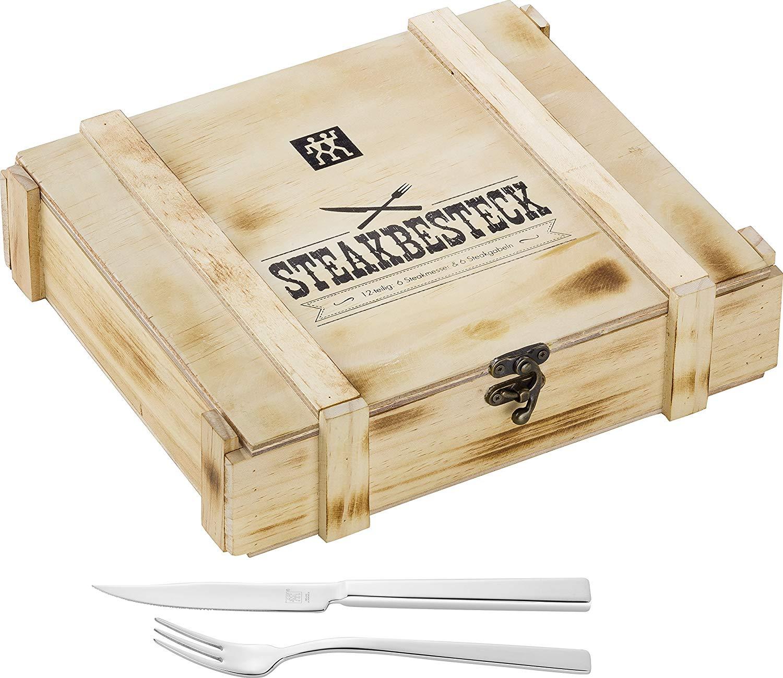 Steakový příbor 12 dílný v dřevěném boxu - ZWILLING J.A.HENCKELS Solingen