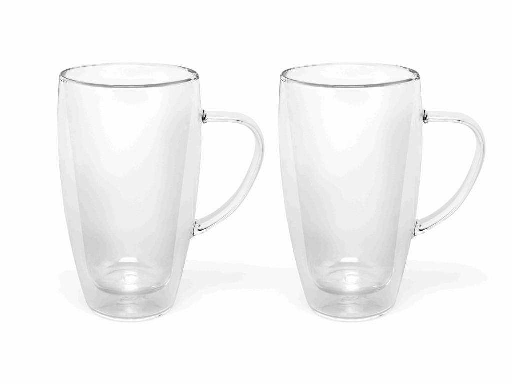 Skleněný hrneček na kávu nebo čaj 320 ml, 2 ks - Bredemeijer