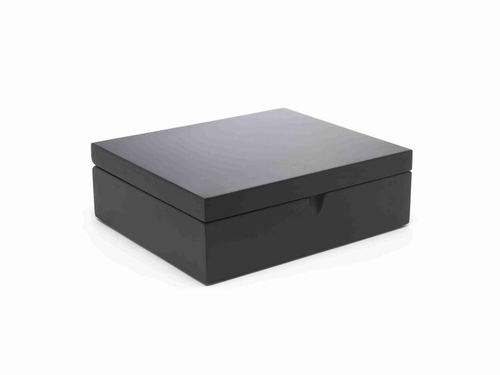 Krabička na porcovaný čaj BLACK, 6 přihrádek - Bredemeijer