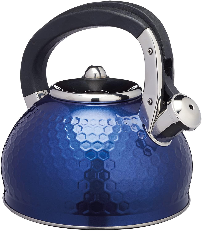Konvice na vaření vody Lovello Textured 2,5l modrá - KitchenCraft