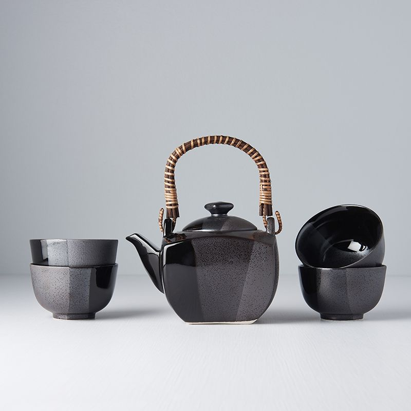 Čajový set GUNMETAL, 5 ks - Made in Japan