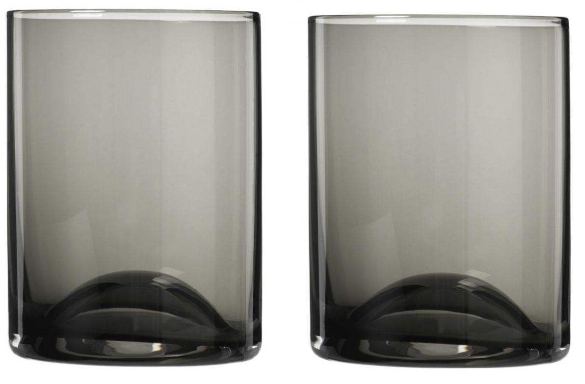 Set 2 ks sklenic WAVE, černé - Blomus
