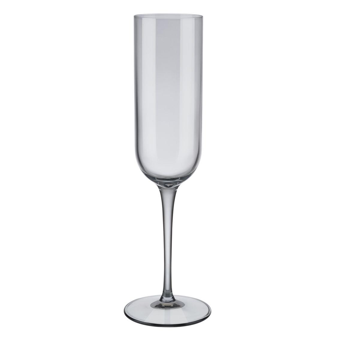 Sada vysokých sklenic na šampaňské FUUM 4ks, kouřová - Blomus