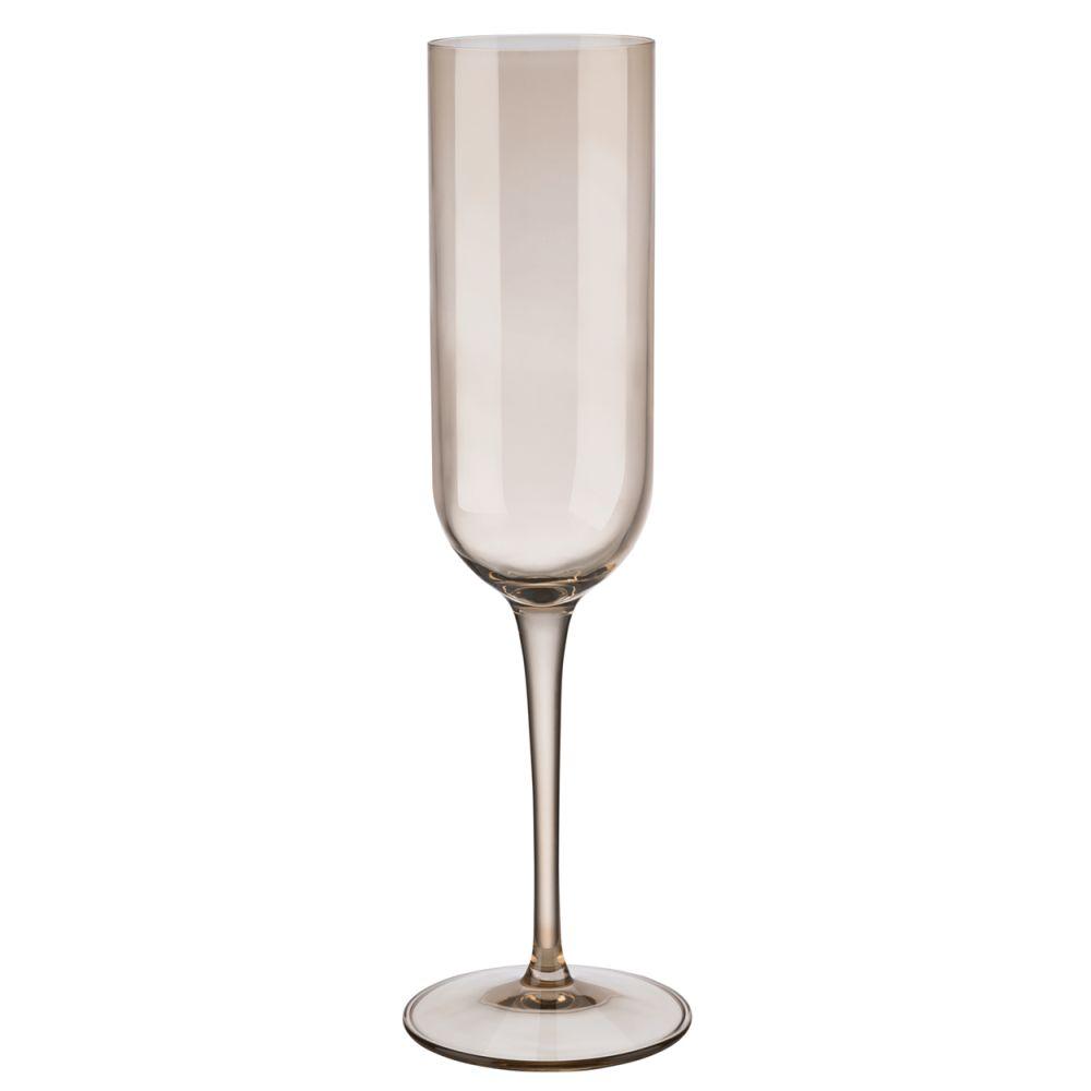 Sada vysokých sklenic na šampaňské FUUM 4ks, písková - Blomus
