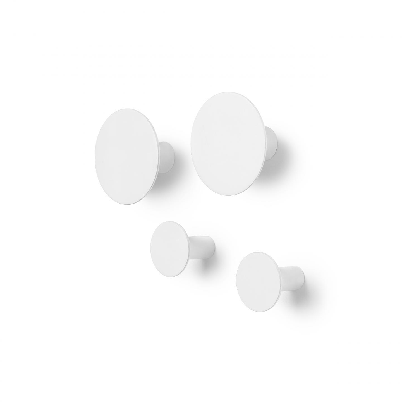 Sada háčků PONTO 4 ks, bílá - Blomus