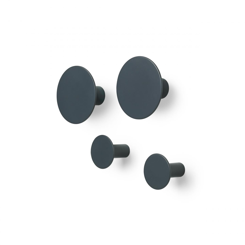 Sada háčků PONTO 4 ks, tmavě šedá - Blomus