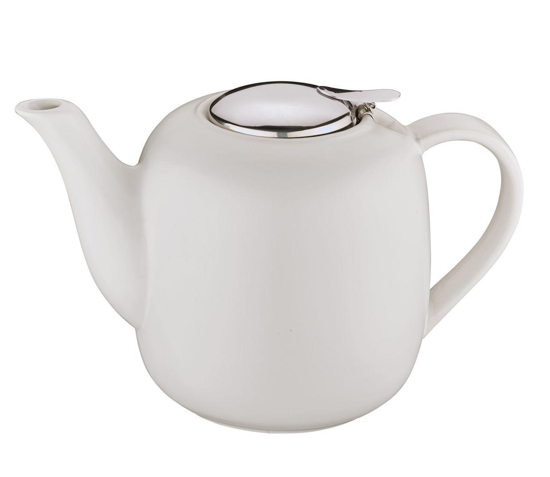 Čajová konvice s filtrem LONDON 1,5 l, bílá - Küchenprofi