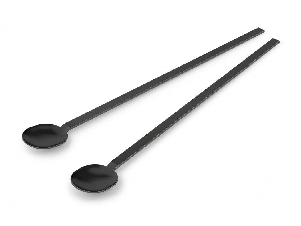 Koktejlová lžíce MENOA 2 ks, černé - ZACK