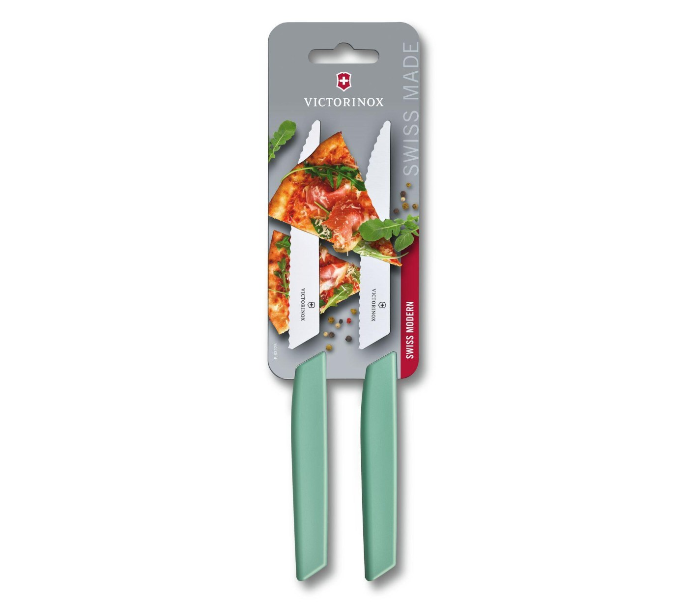 Sada 2 ks steakový nůž 12 cm zelený SWISS MODERN - Victorinox