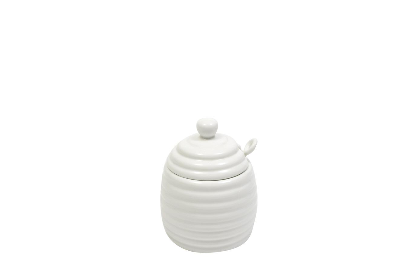 Porcelánová Nádobka na med se lžičkou White Basics - Maxwell&Williams