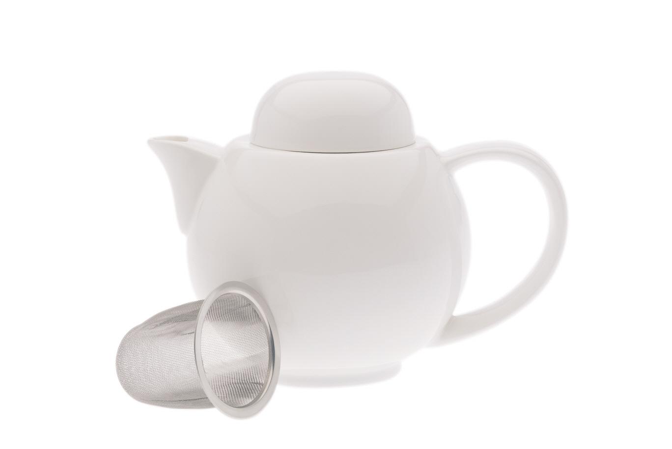 Porcelánová Konvice se sítkem White Basics 0,4 l - Maxwell&Williams
