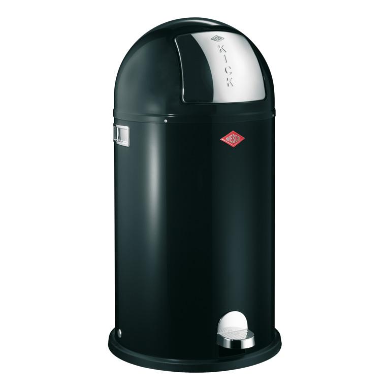 Odpadkový koš Kickboy nášlapný černá 40 l - Wesco
