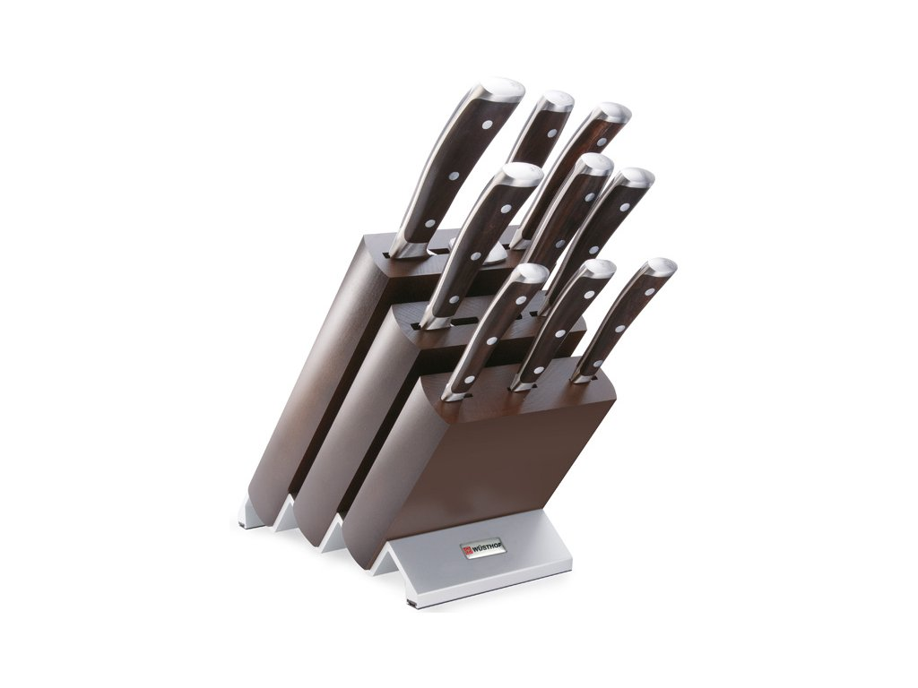 Blok s noži IKON 9 ks - Wüsthof Dreizack Solingen