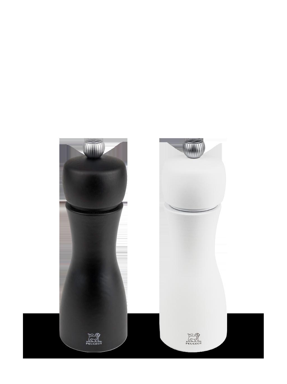 Sada mlýnků na pepř a sůl 15 cm bílá/černá TAHITI - Peugeot