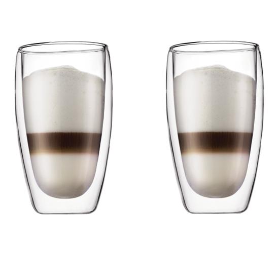 Set 2 ks Dvoustěnná sklenice PAVINA 0,45 l - Bodum
