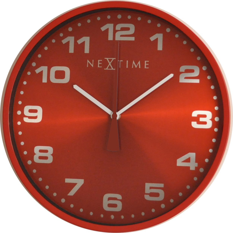 Nástěnné hodiny Dash Red 35 cm - NEXTIME