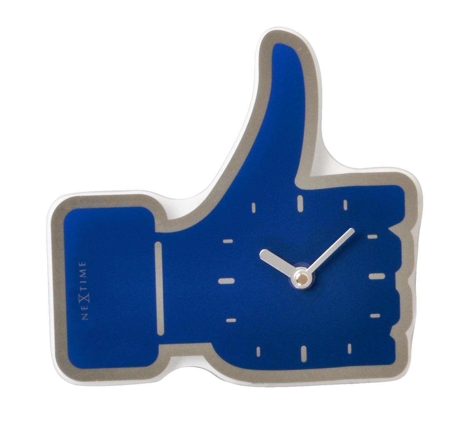 Nástěnné/stolní hodiny mini Facebook Like 23 x 20 cm modré - NEXTIME