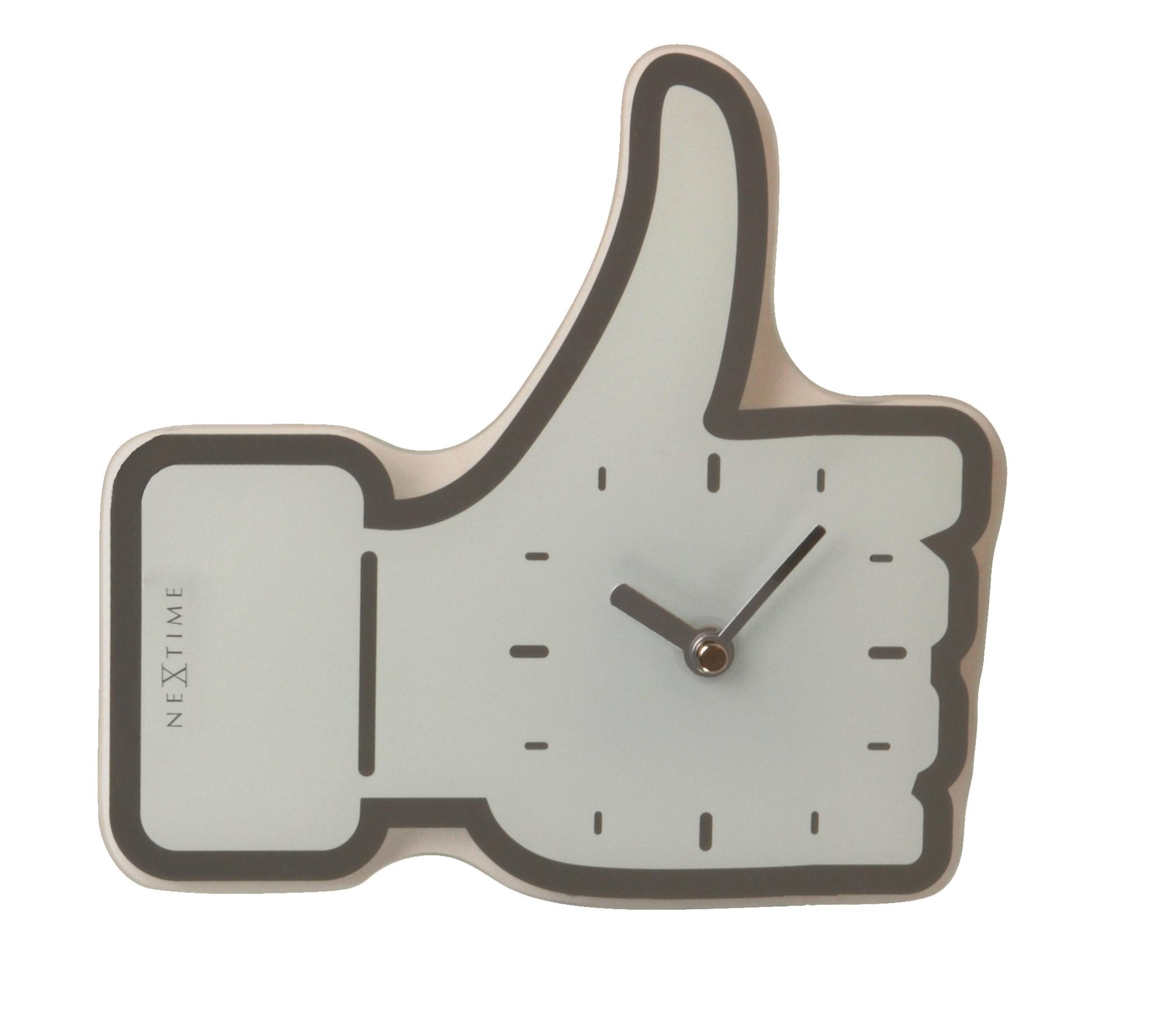 Nástěnné/stolní hodiny mini Facebook Like 23 x 20 cm bílé - NEXTIME