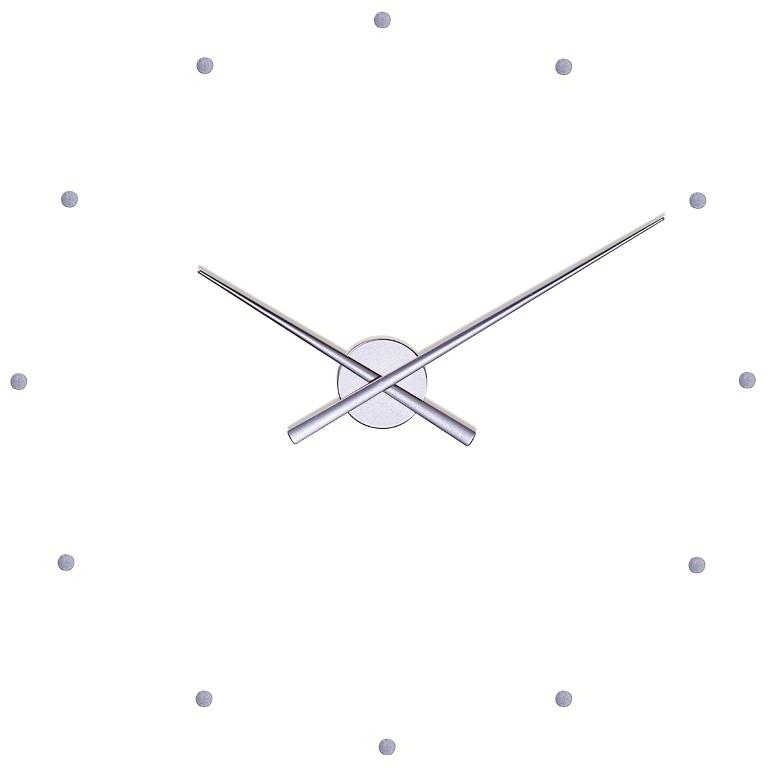 Nástěnné hodiny NOMON OJ stříbrné 80 cm - NOMON