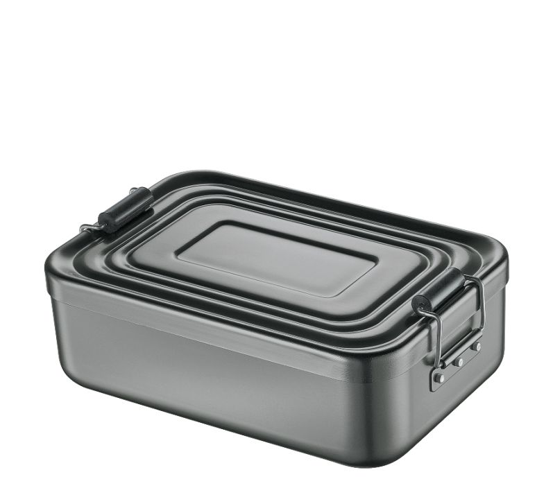 Svačinový box alu antracitový 5x12x18 cm - Küchenprofi
