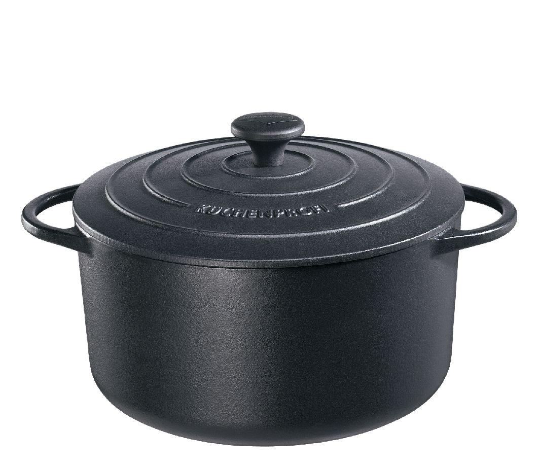 Litinový hrnec kulatý Provence 26 cm černý - Küchenprofi