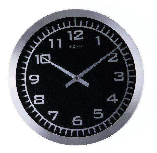Nástěnné hodiny BLACKY 45 cm - NEXTIME