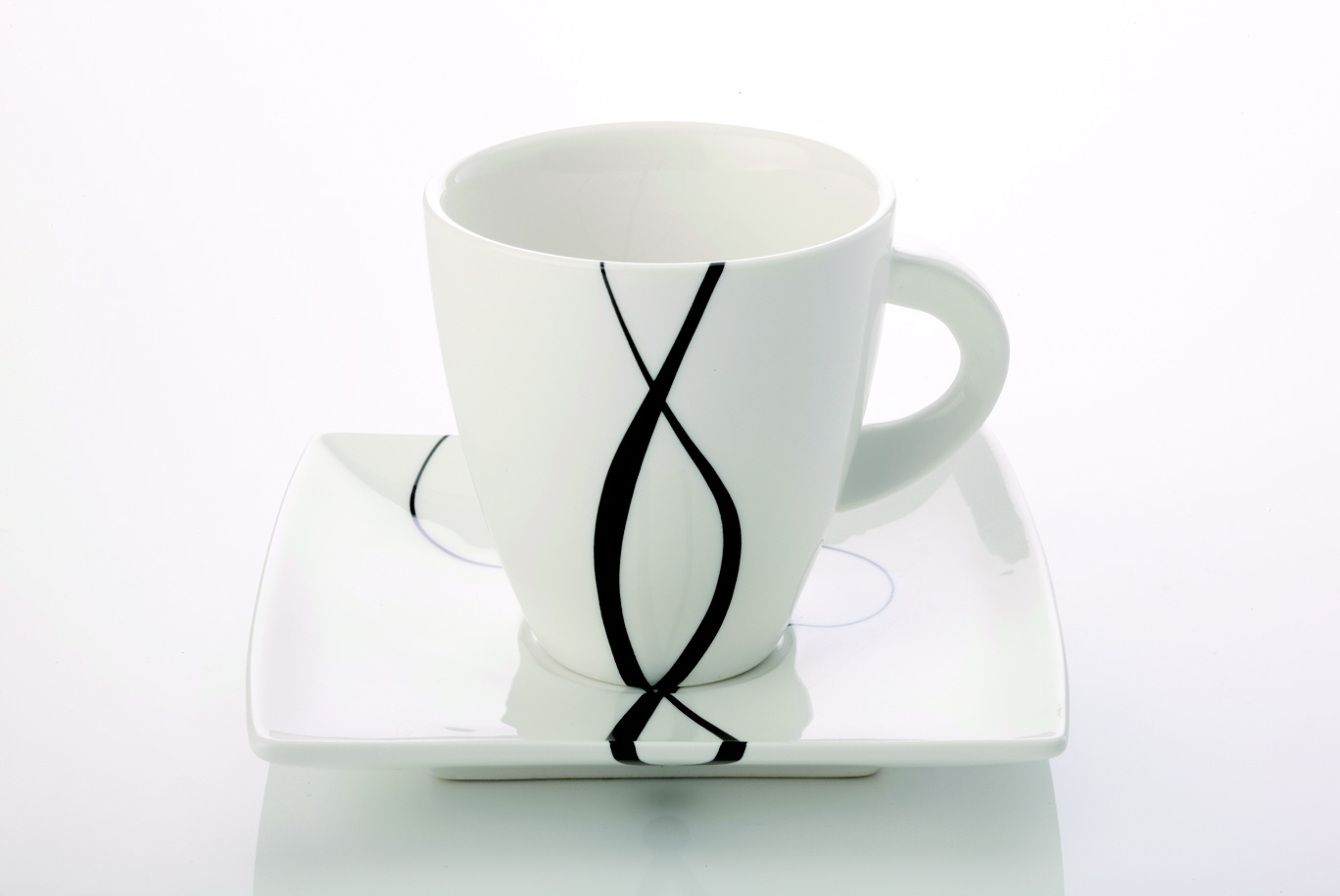 Šálek s podšálkem na cappuccino Breeze 230 ml - Maxwell Williams