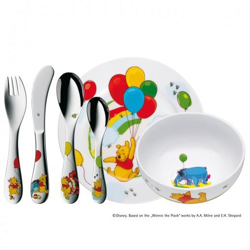 Dětský příbor 6-dílný set Medvídek Pú Disney - WMF
