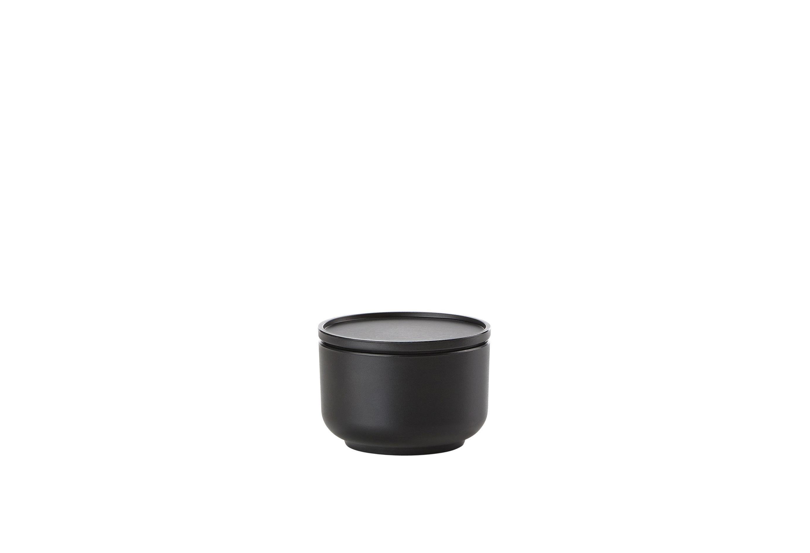 Servírovací mísa PEILI s víkem, černá ? 9 cm - Zone